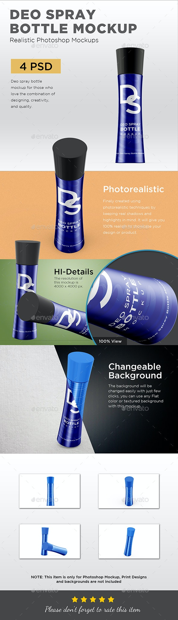 Deo Spray Bottle Mockup - Packaging Product Mock-Ups