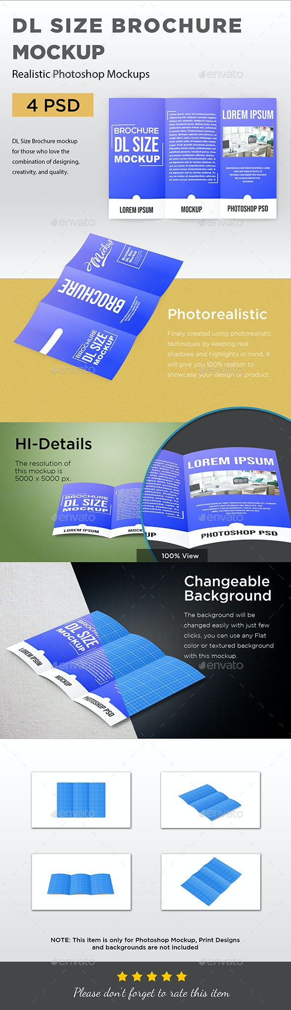 DL Size Brochure Mockup - Brochures Print