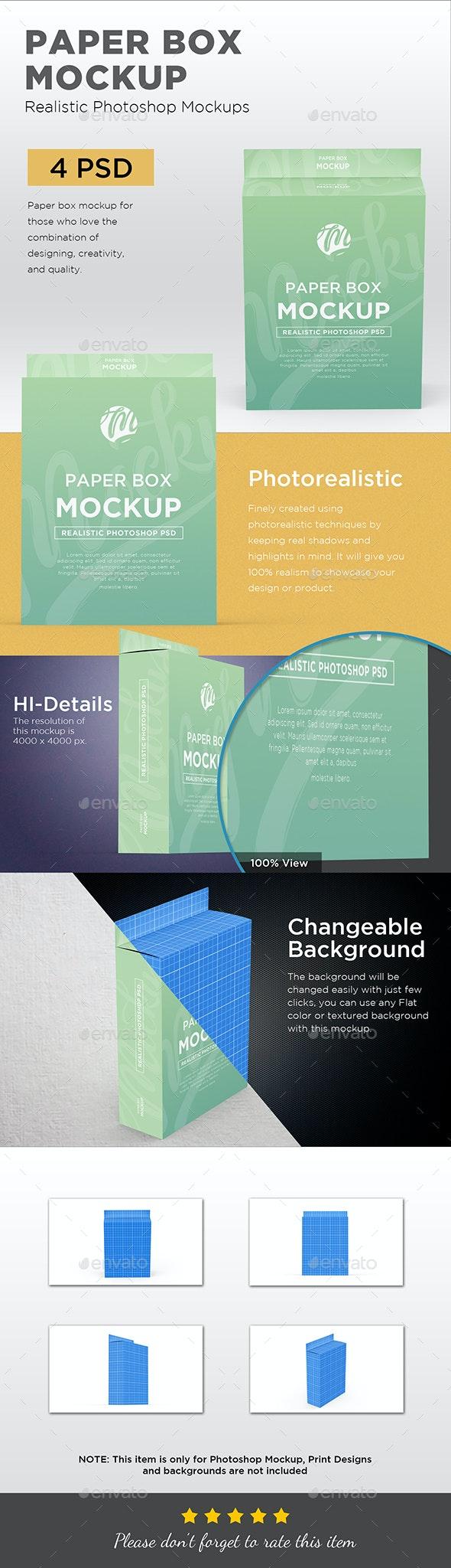 Paper Box Mockup - Packaging Product Mock-Ups