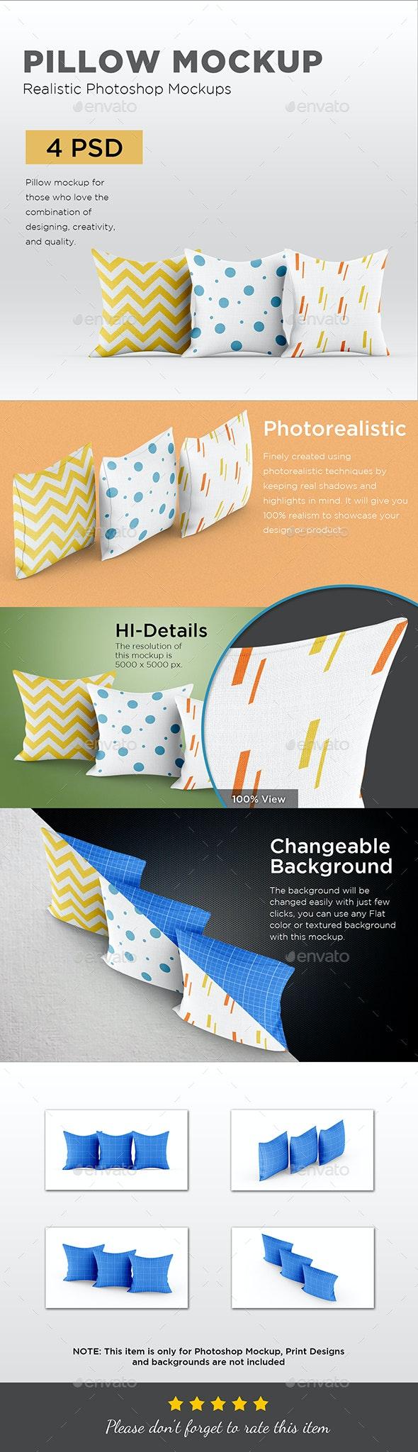 Pillow Mockup - Apparel Product Mock-Ups