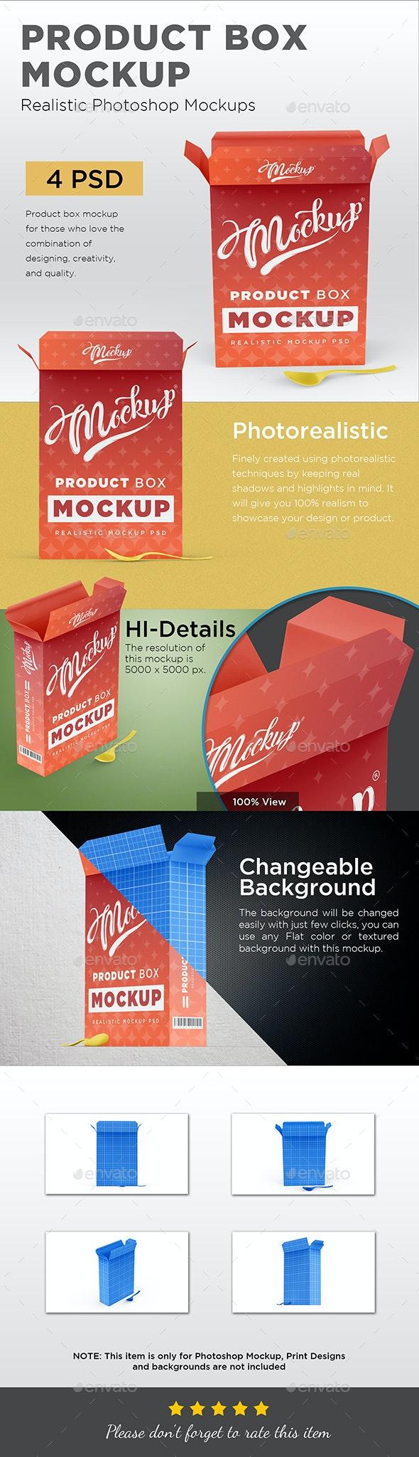 Product Box Mockup - Packaging Product Mock-Ups