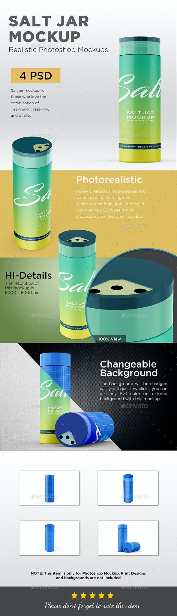 Salt Jar Mockup - Packaging Product Mock-Ups
