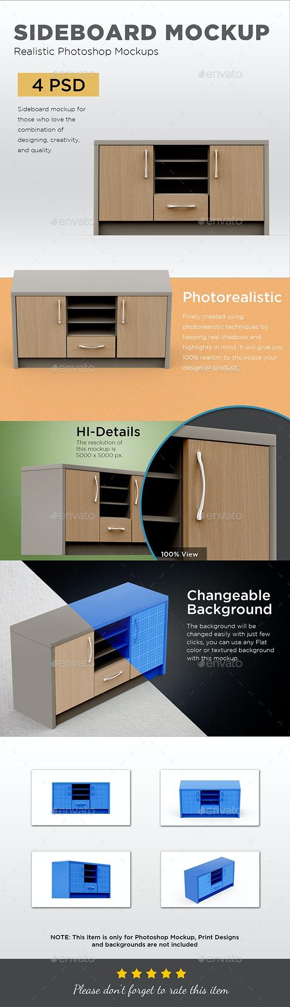 Sideboard Mockup - Displays Product Mock-Ups