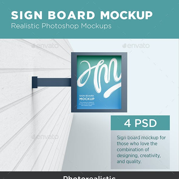 Sign Board Mockup