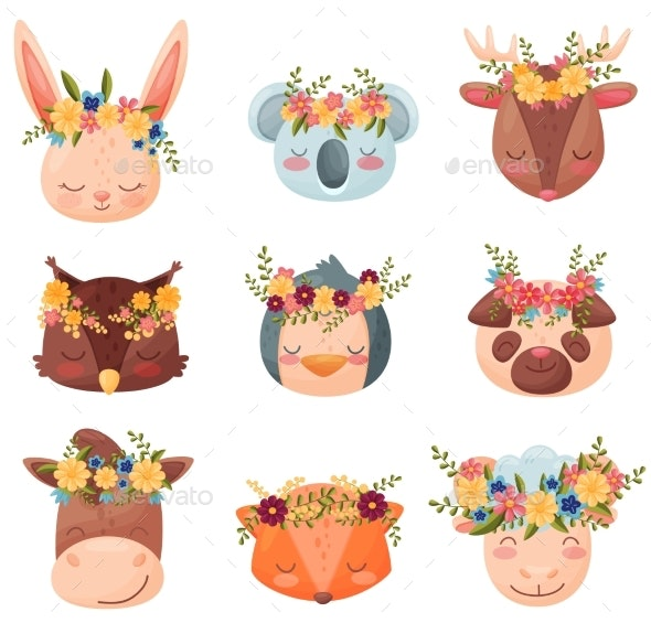 Collection Colored Cartoon Animals - Animals Characters