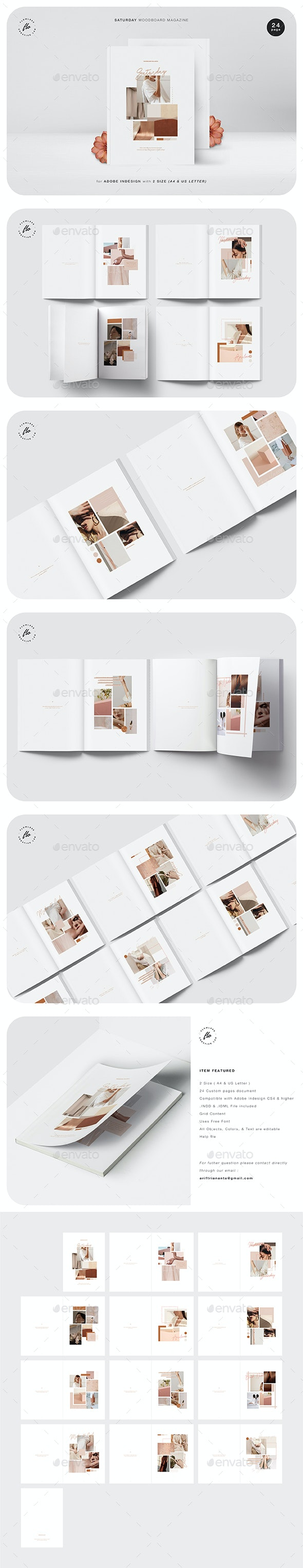 Saturday Moodboard Magazine - Magazines Print Templates