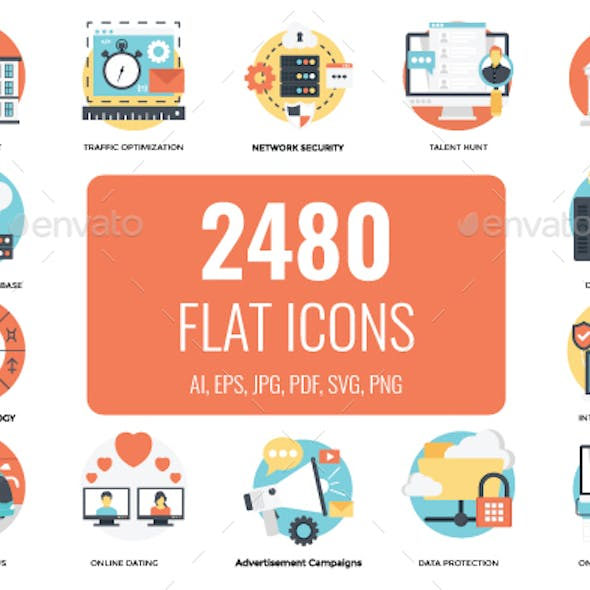 2480 Flat Vector Icons