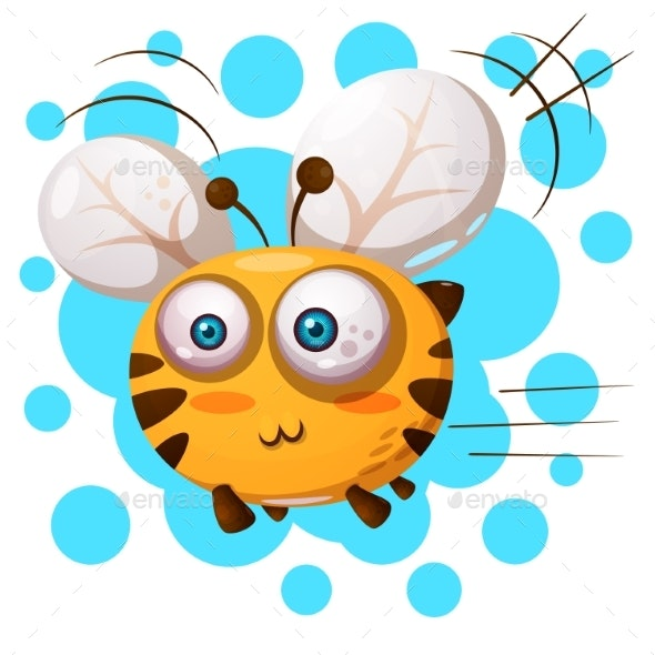Bee Characters Cartoon Illustration - Miscellaneous Vectors