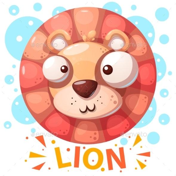Lion Character Cartoon Illustration - Animals Characters