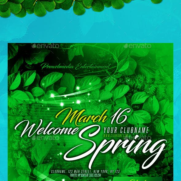 Spring Event Party Flyer