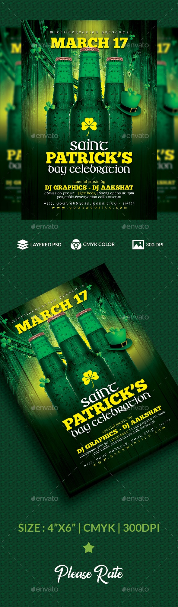 St Patrick's Day - Clubs & Parties Events