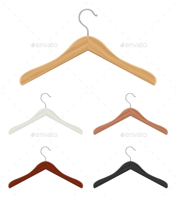 Wooden Coat Hanger for Clothes - Man-made Objects Objects