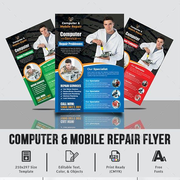 Computer & Mobile Repair Flyer