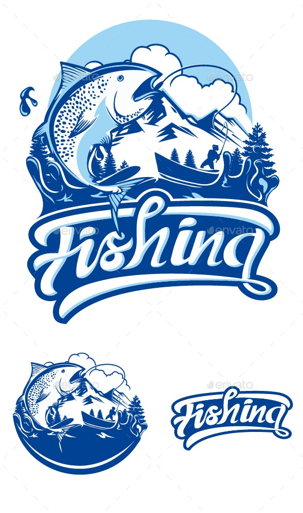 Fishing Club Logo - Decorative Symbols Decorative