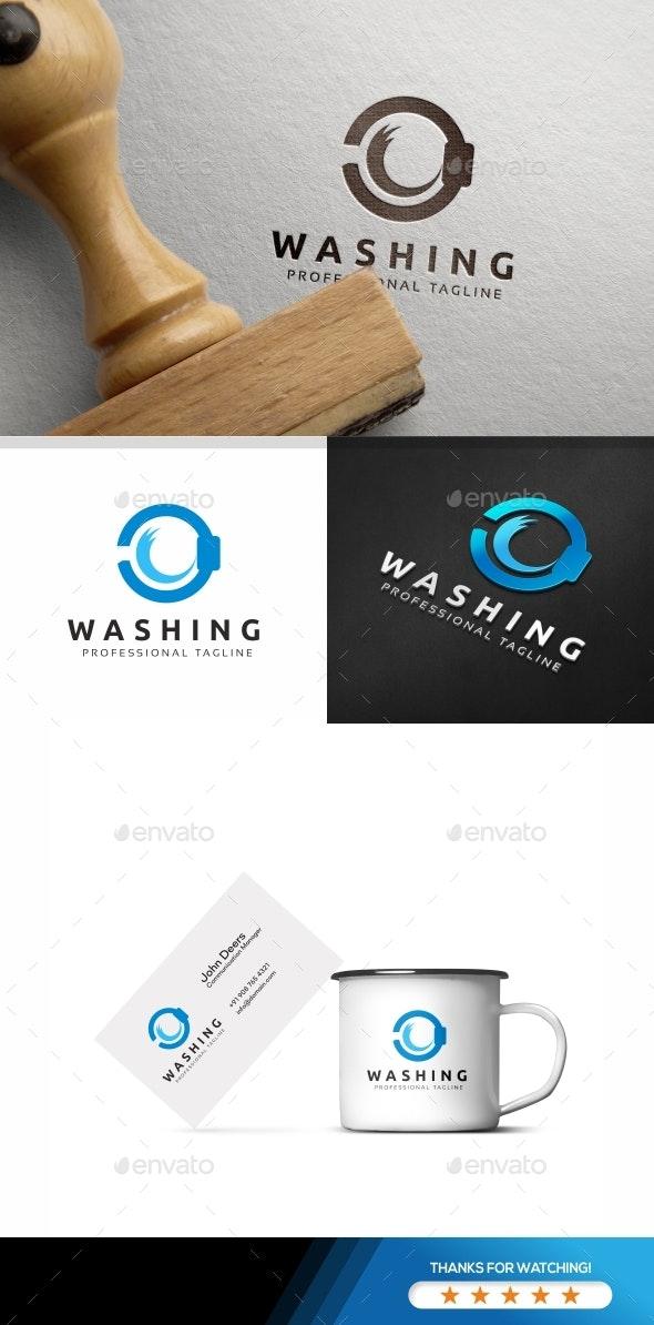 Circle Blue Wave Logo - Objects Logo Templates