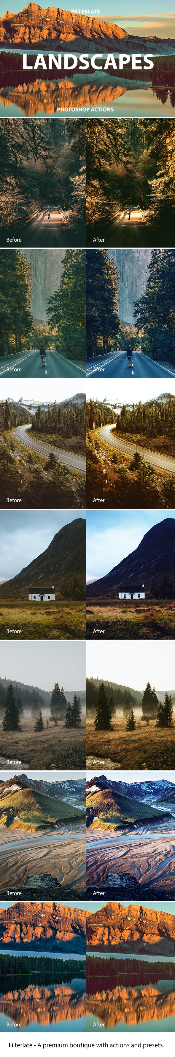 Landscapes Actions - Photo Effects Actions