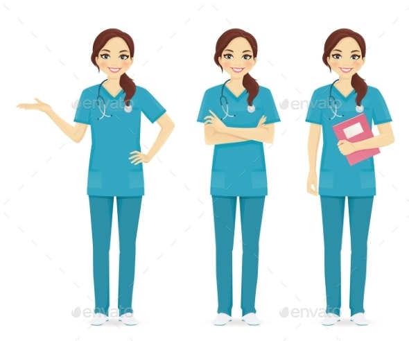 Nurse Set - Health/Medicine Conceptual