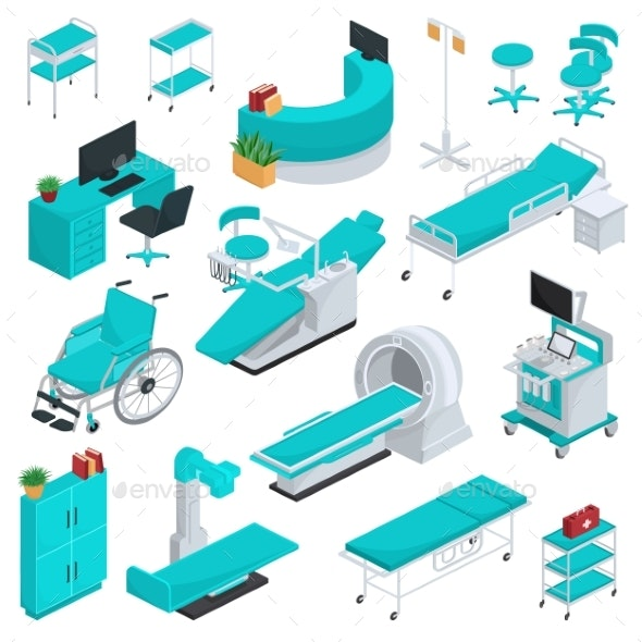 Medical Equipment Vector Clinic Technology - Health/Medicine Conceptual