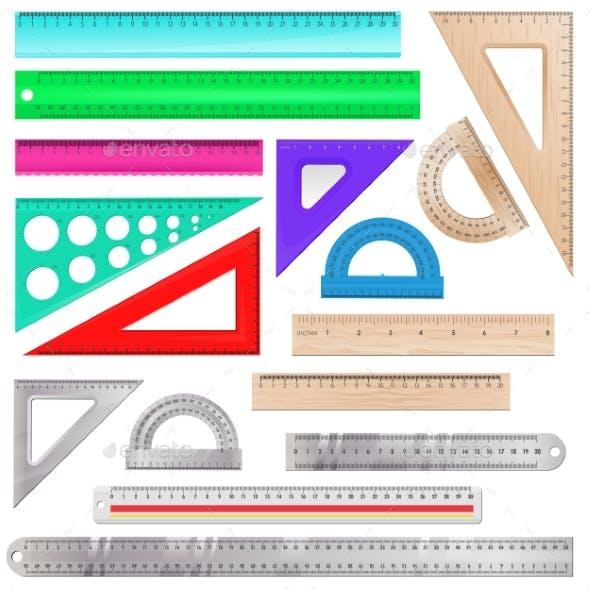 Ruler Vector Measurement Scale Tools