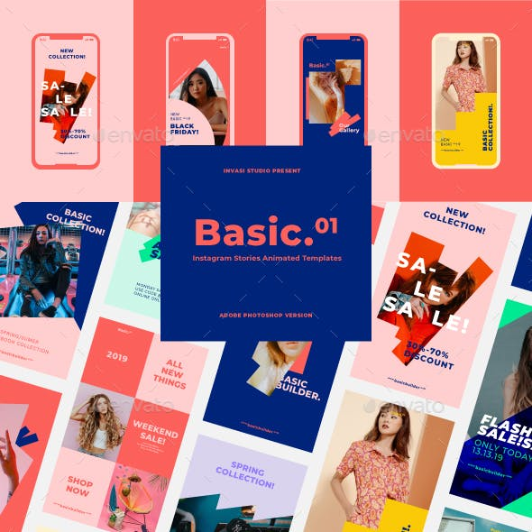 Basic-Instagram Stories Animated Templates