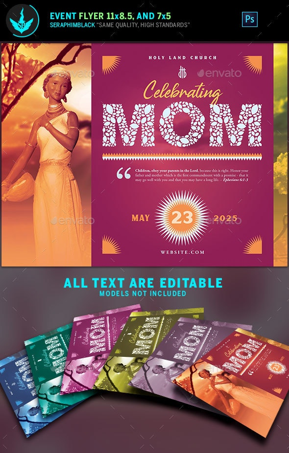 Mother's Day Flyer Template 2 - Holidays Events