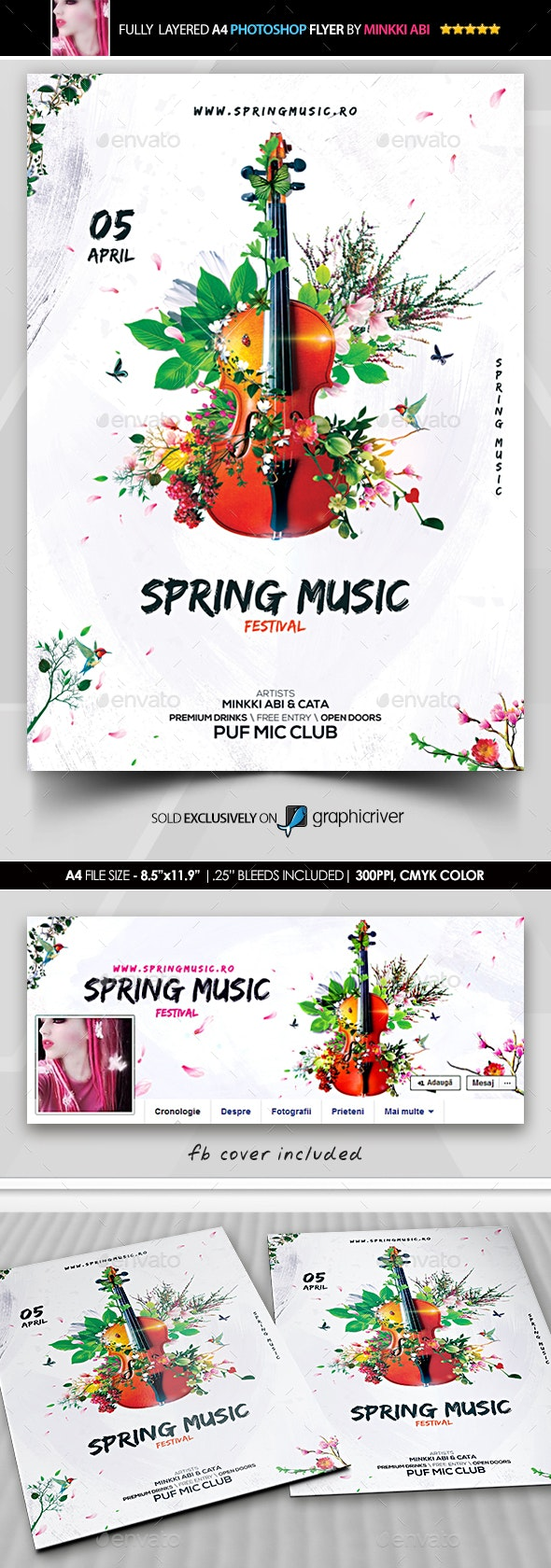 Spring Music Festival Flyer - Flyers Print Templates