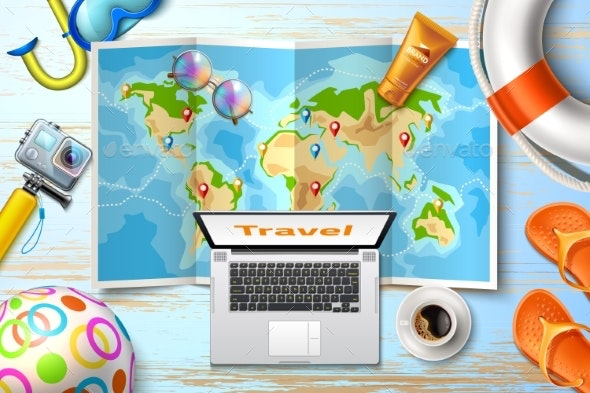 Vector Time To Travel Poster Design 3d - Backgrounds Decorative