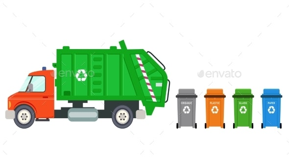Trash Recycle Transportation Truck Garbage - Man-made Objects Objects