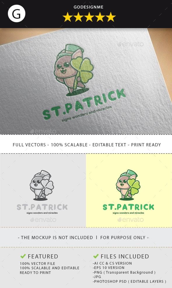 ST Patrick Logo Design - Vector Abstract
