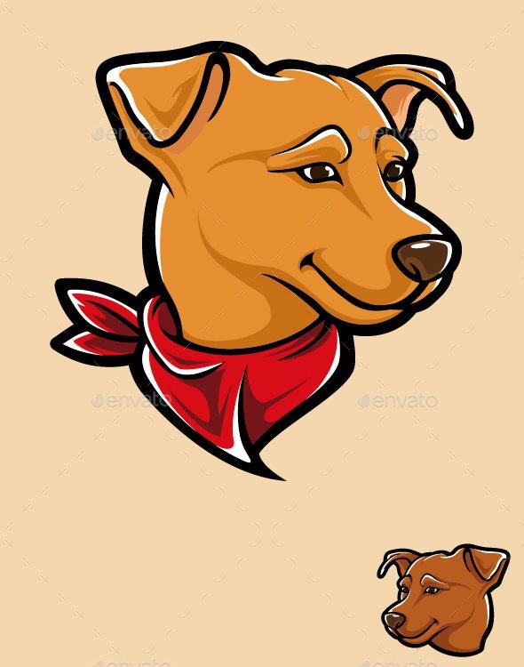 Smile Dog head - Animals Characters