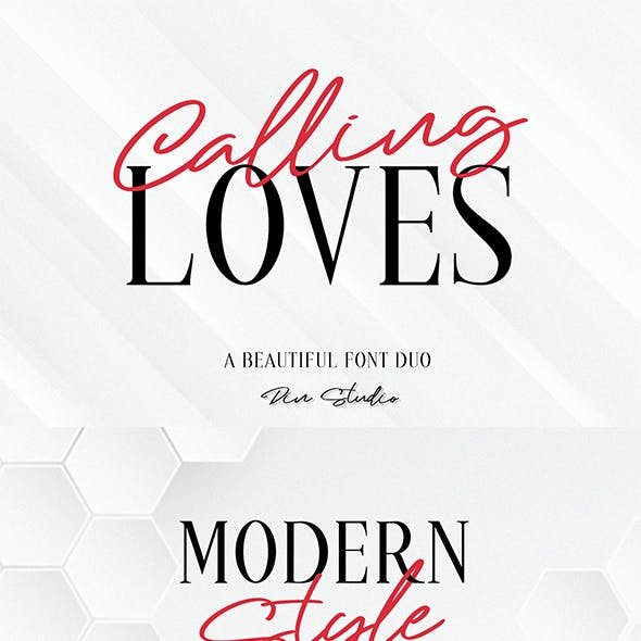 Calling Loves _ Font Duo