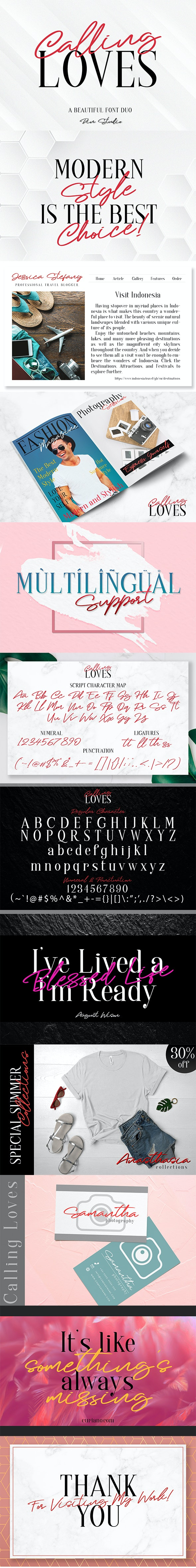 Calling Loves _ Font Duo - Hand-writing Script