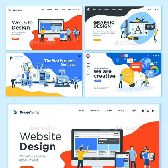 Set of Web Page Design Templates