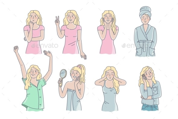 Girl Poses - People Characters
