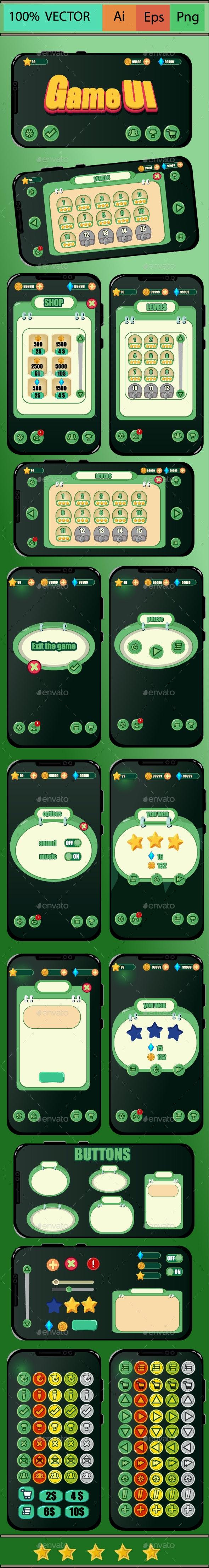 Game UI Kit - User Interfaces Game Assets