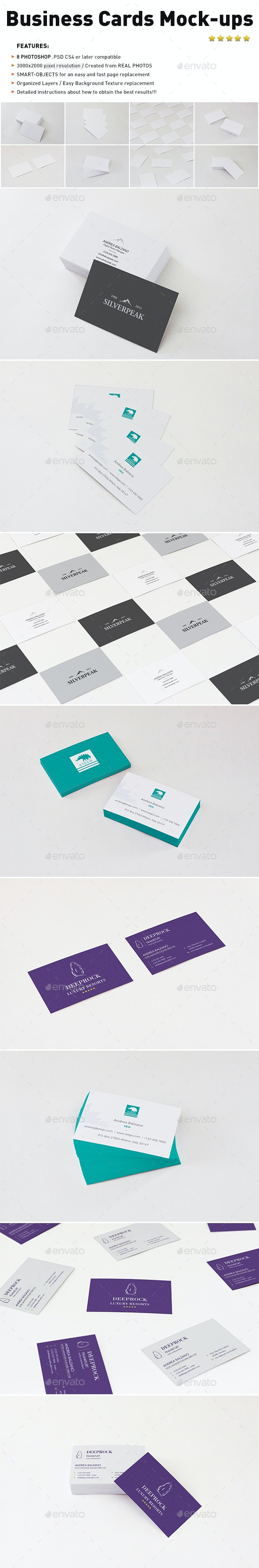 Photorealistic Business Cards Mockups - Business Cards Print
