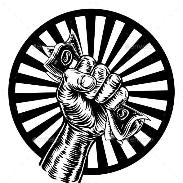 Fist Hand Holding Cash Money
