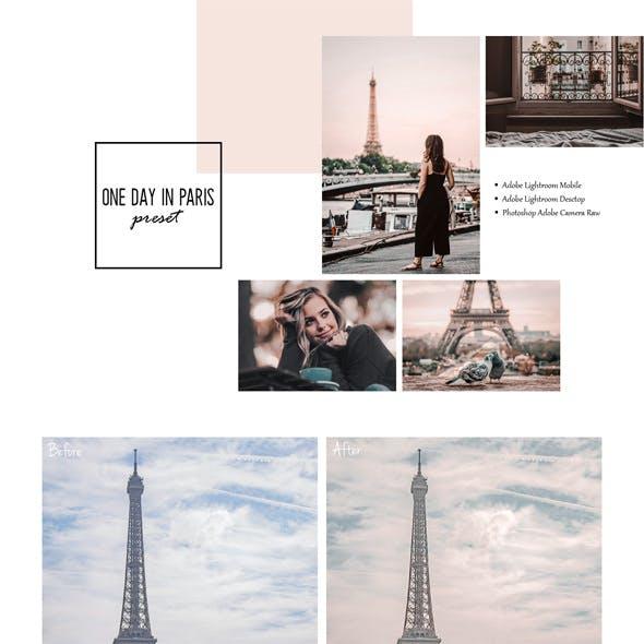 One day in Paris Lightroom Preset