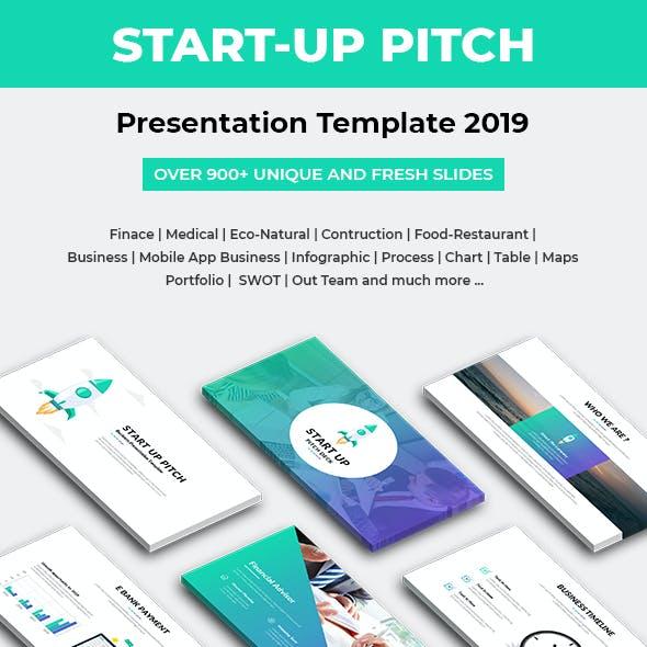Start-Up Pitch Deck Presentation Template 2019