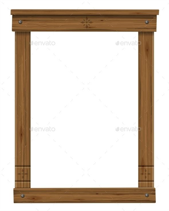 Wooden Antique Window or Door Frame - Borders Decorative