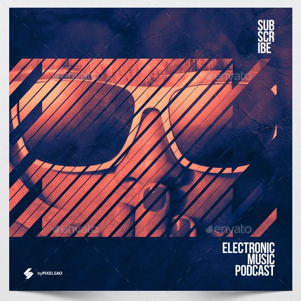 Electronic Music Podcast - Album Cover Artwork Template
