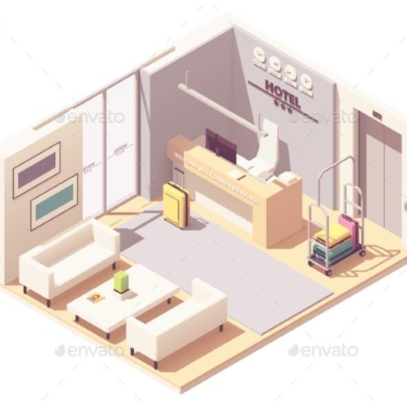 Vector Isometric Hotel Reception
