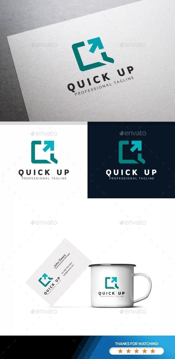 Q Letter - Quick Up Logo - Letters Logo Templates