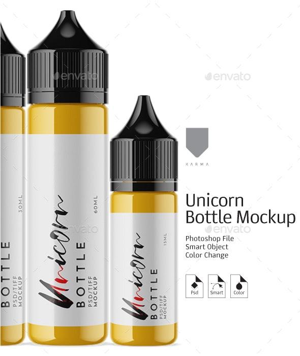 Unicorn Dropper Bottles Mockup - Packaging Product Mock-Ups