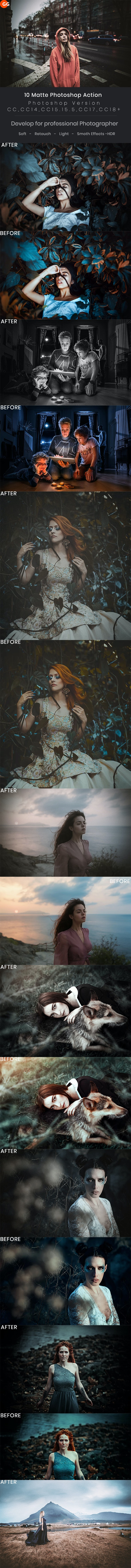 10 Matte Photoshop Action - Photo Effects Actions