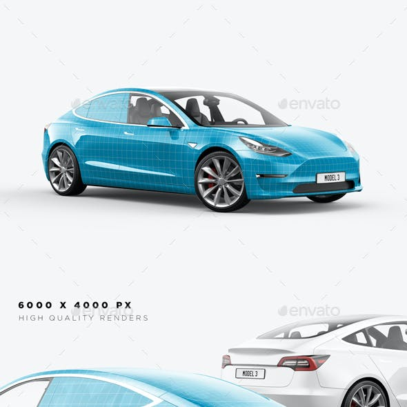 Model 3 Electric Car Mockup