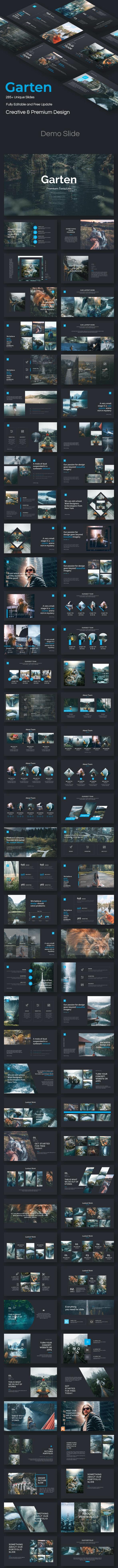 Garten Creative Design Google Slide Template - Google Slides Presentation Templates