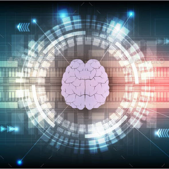 Digital Technology and Brain Background