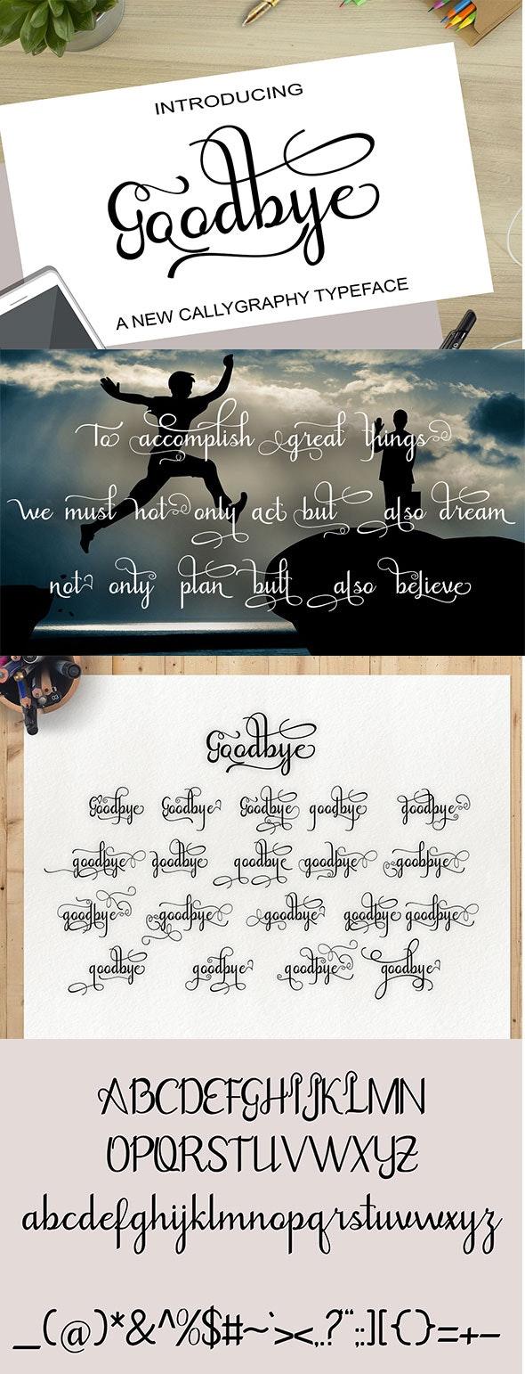 Goodbye - Script Fonts
