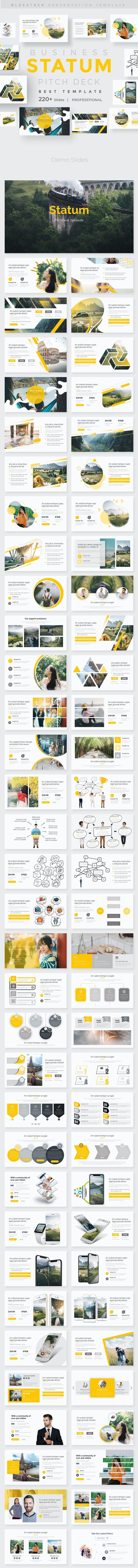 Statum Pitch Deck Powerpoint Template - Creative PowerPoint Templates